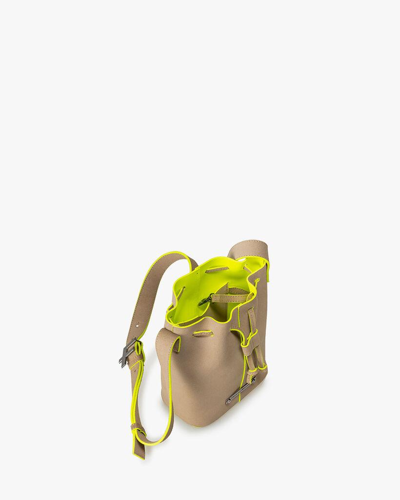 Bucket bag suède beige