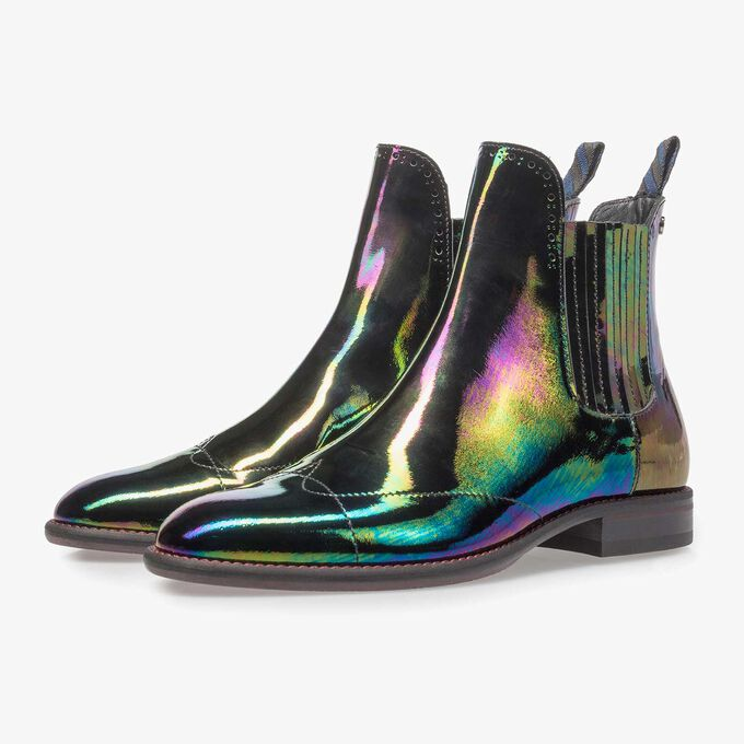 Multi-color chelsea boot van lakleer