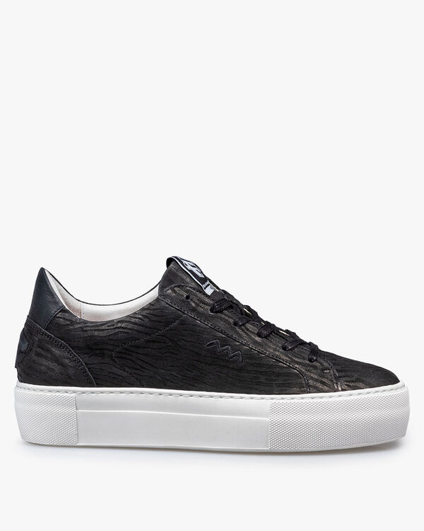 Sneaker printed leather black