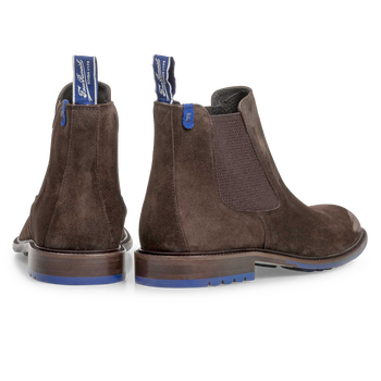 Donkerbruine kalfssuède chelsea boot