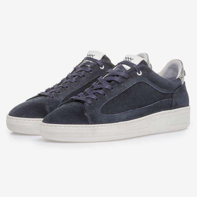 Donkerblauwe suède sneaker