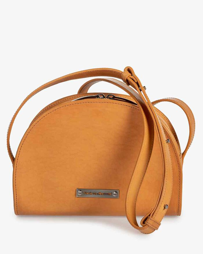 Cross body tas kalfsleer naturel