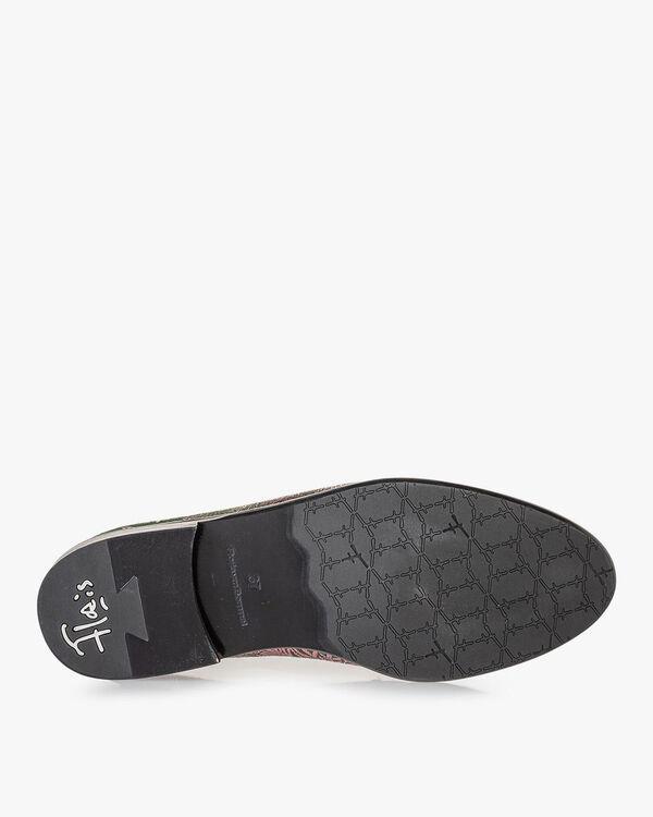 Loafer groen met print