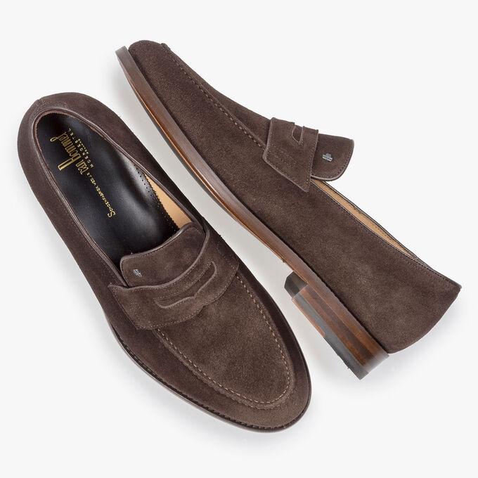 Donkerbruine suède loafer