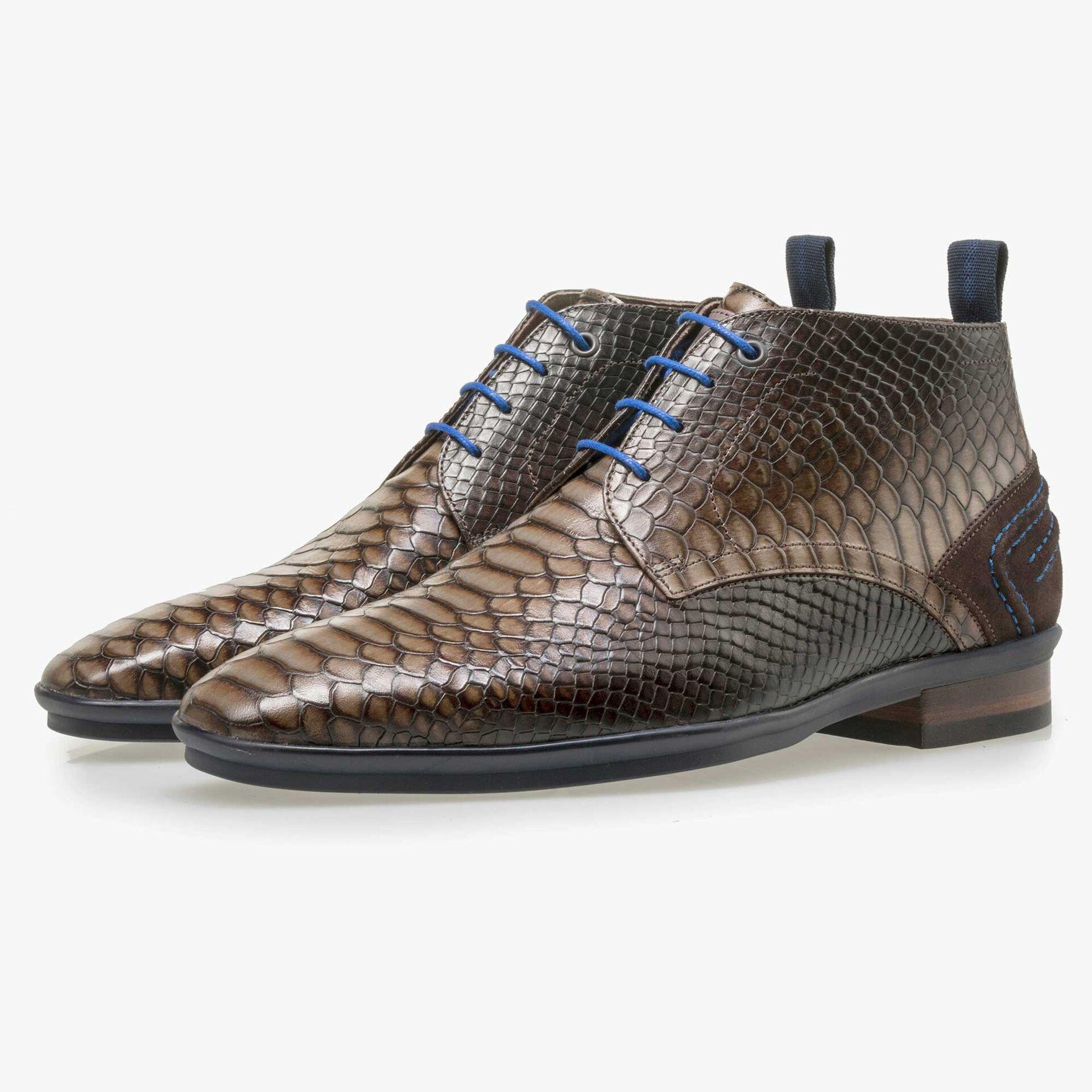 Floris van Bommel brown lace boot