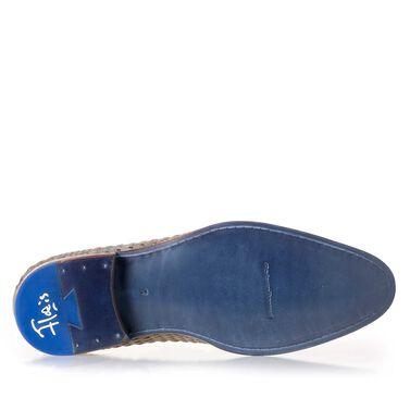 Loafer van gevlochten suède