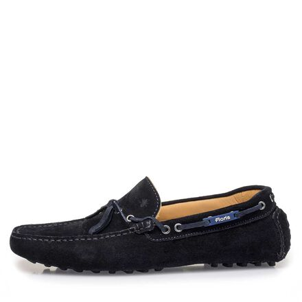Calf suede leather moccasin