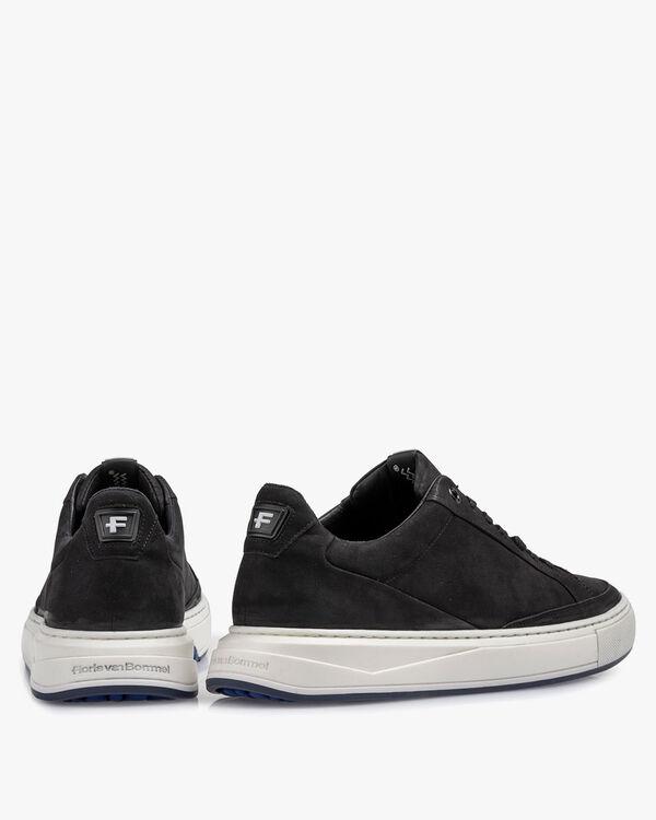 Sneaker nubuckleer zwart