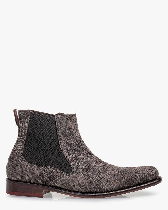 Chelsea boot suede dark grey