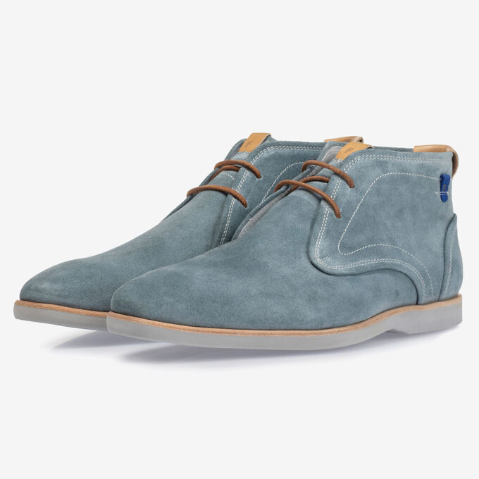 Boot suède turquoise