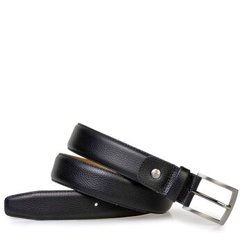 Belt printed leather black