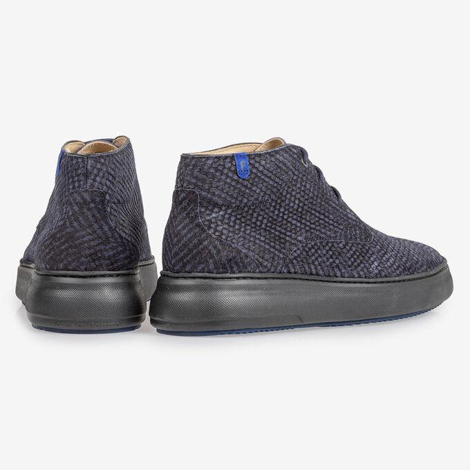 Boot zigzag print blauw