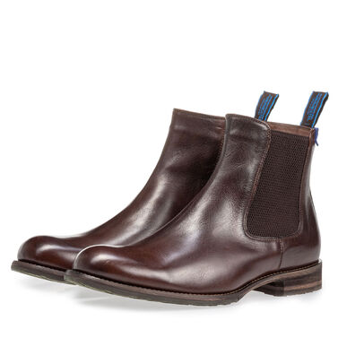 Lambskin lined leather Chelsea boot