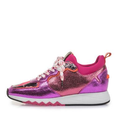 Sneaker met metallicprint