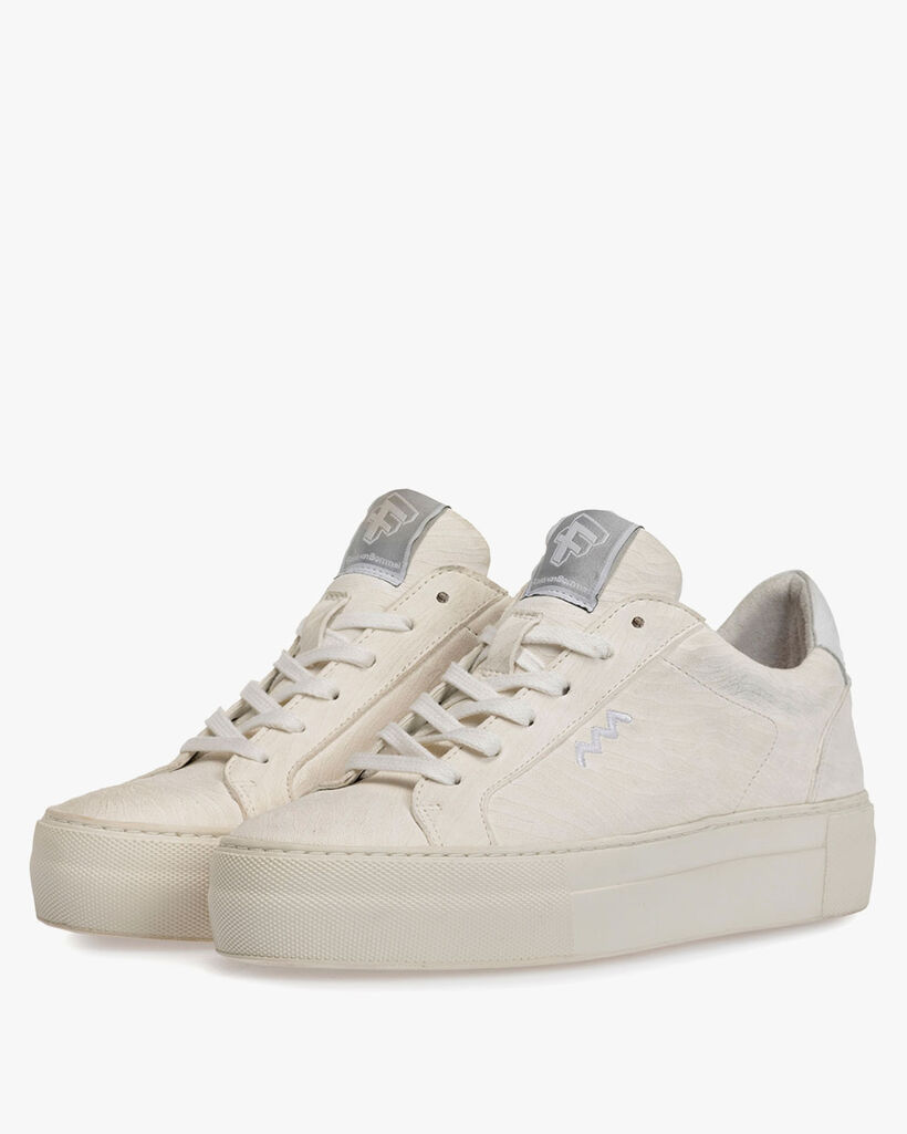 Sneaker printed leather white
