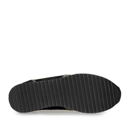 Suède sneaker met metallicprint