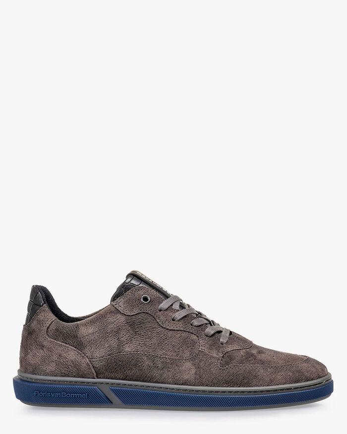 Sneaker printed leather dark grey