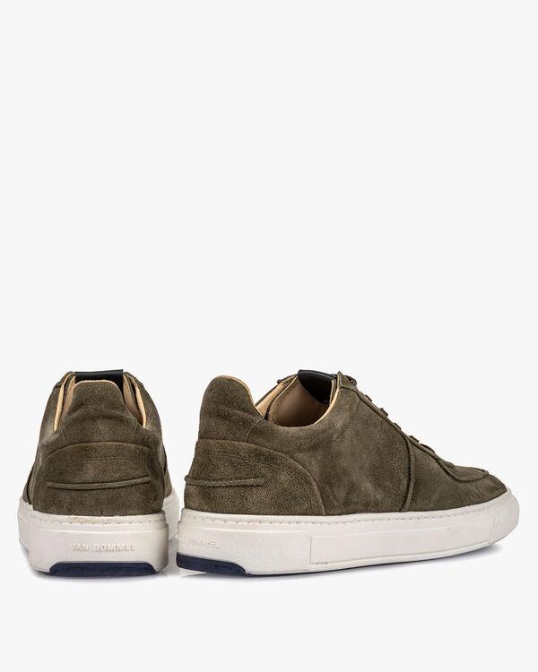 Sneaker groen suède