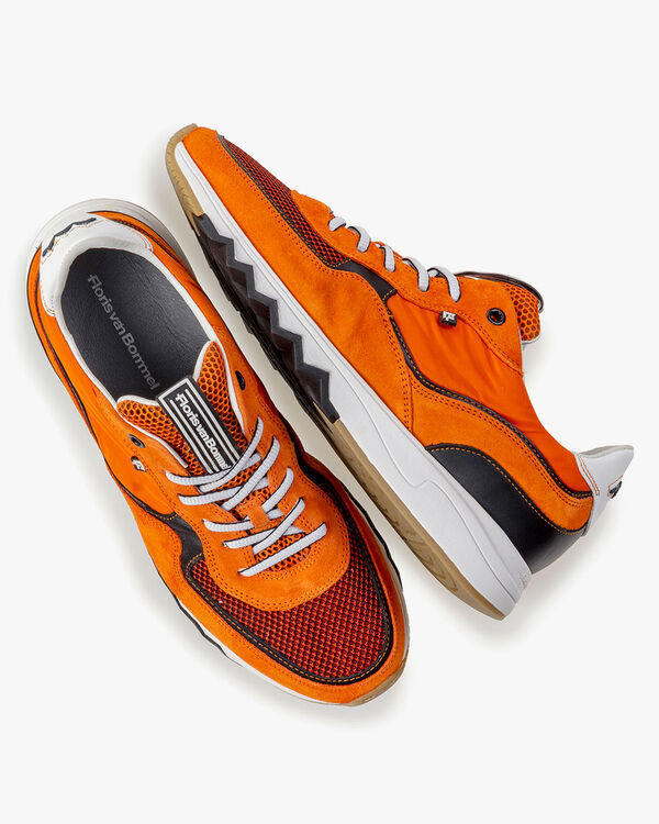 Nineti orange suede leather