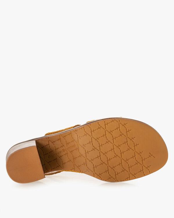 Sandaal geprint suède cognac