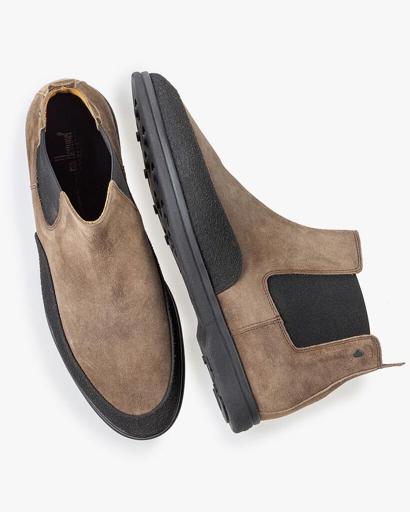Suède chelsea boot taupe