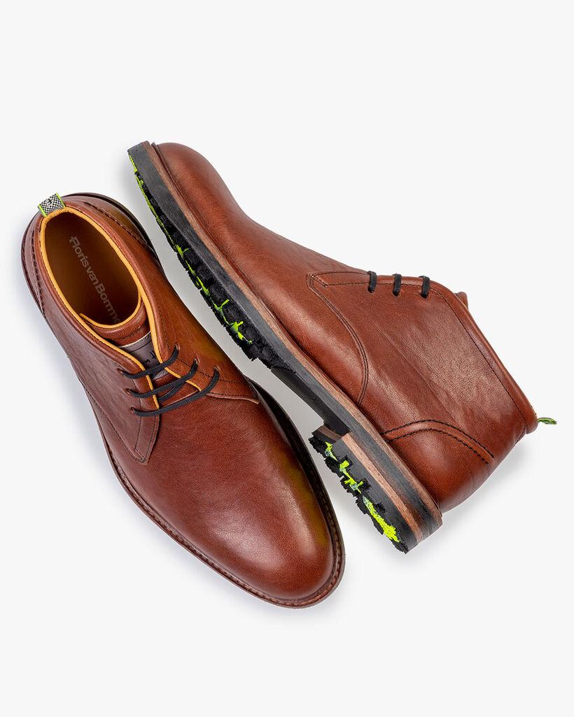 Lace boot leather cognac