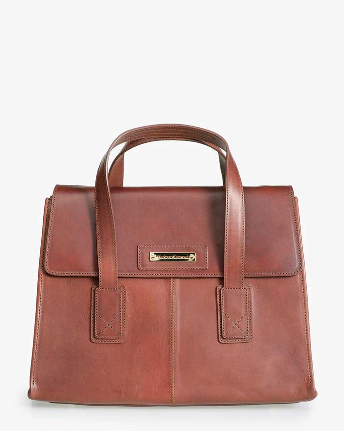 Bruine leren business bag
