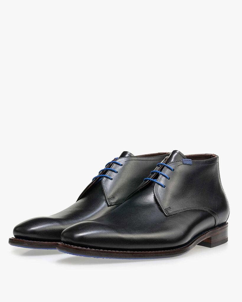 Floris van Bommel black leather men's lace-up boot