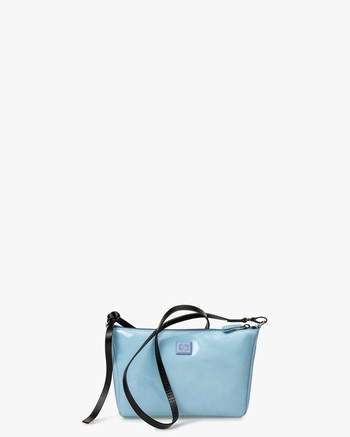 Cross body tas lakleer lichtblauw