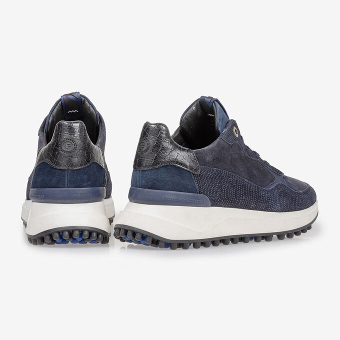 Noppi sneaker suede leather blue