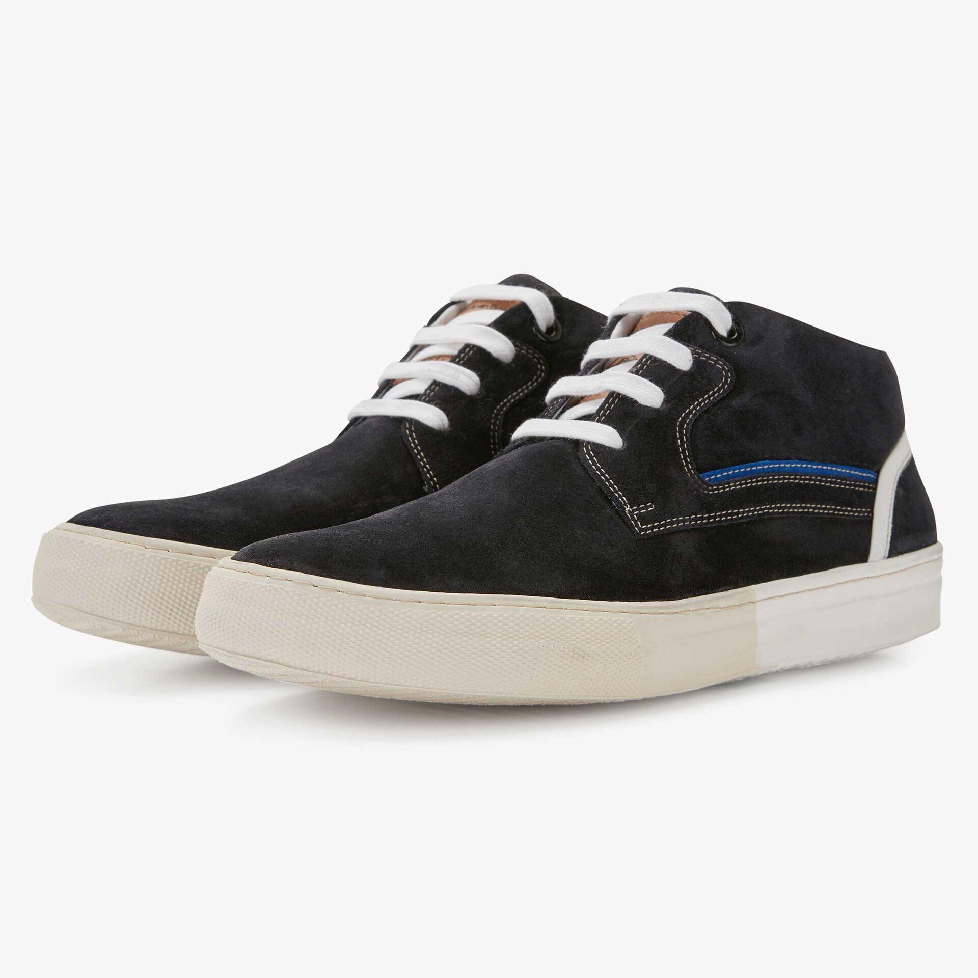 Floris van Bommel dark blue men's suede lace boot