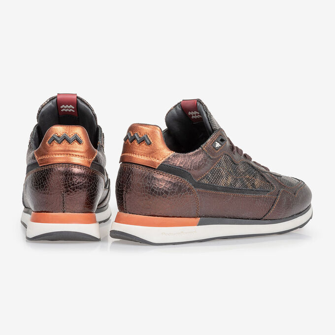 Sneaker dark brown leather