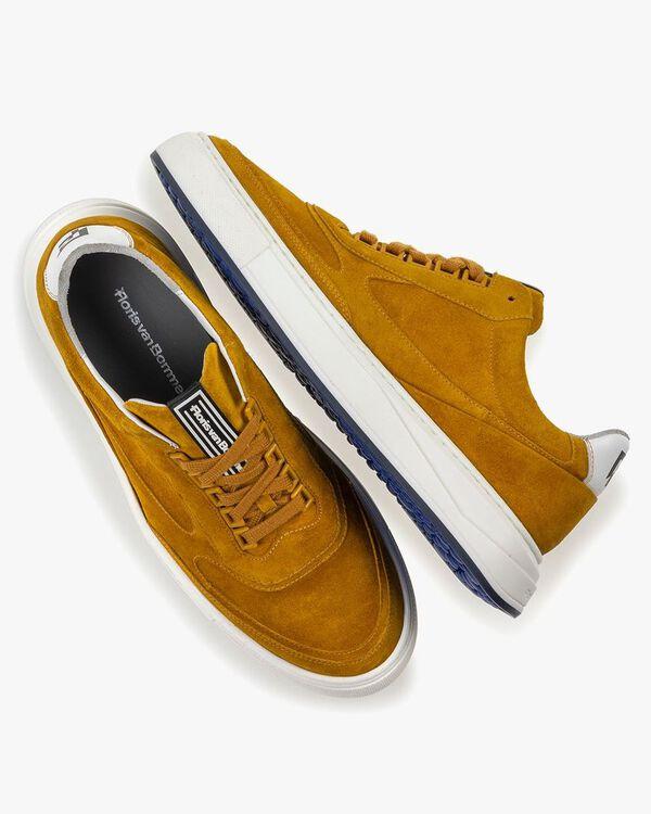 Sneaker geel suède