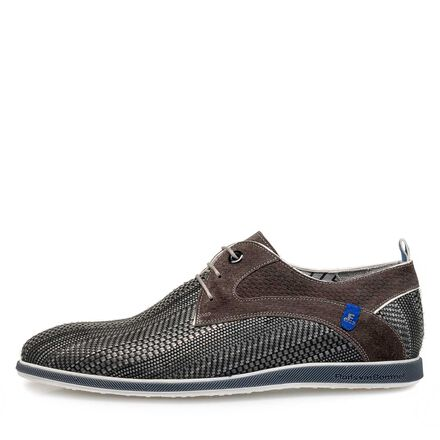 Braided leather lace shoe