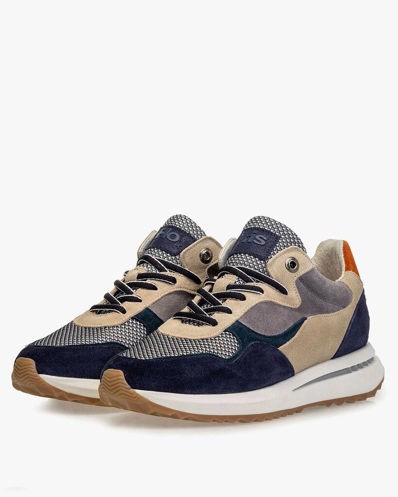 Sneaker blauw suède