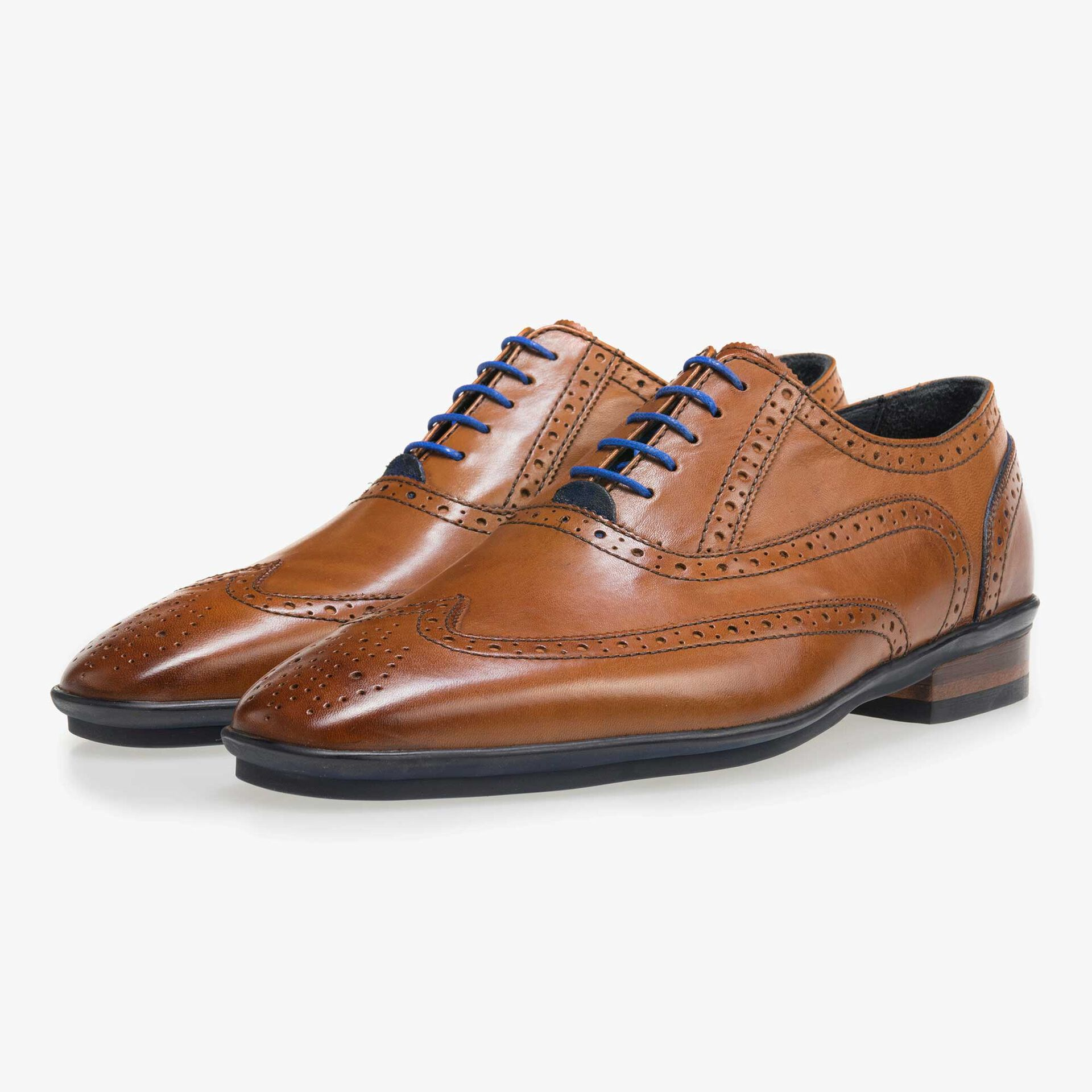Floris van Bommel cognac men's shoe brogue