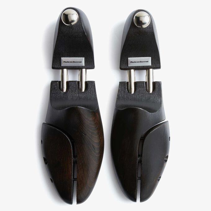 Zwarte houten schoenspanner