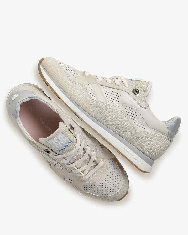 Sneaker printed leather off-white