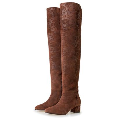 Floris van Bommel women's suede leather over knee boots