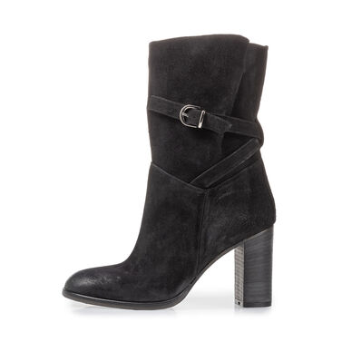 Mid-high boot suede leather