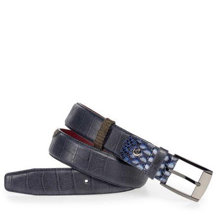 Leather men's belt
