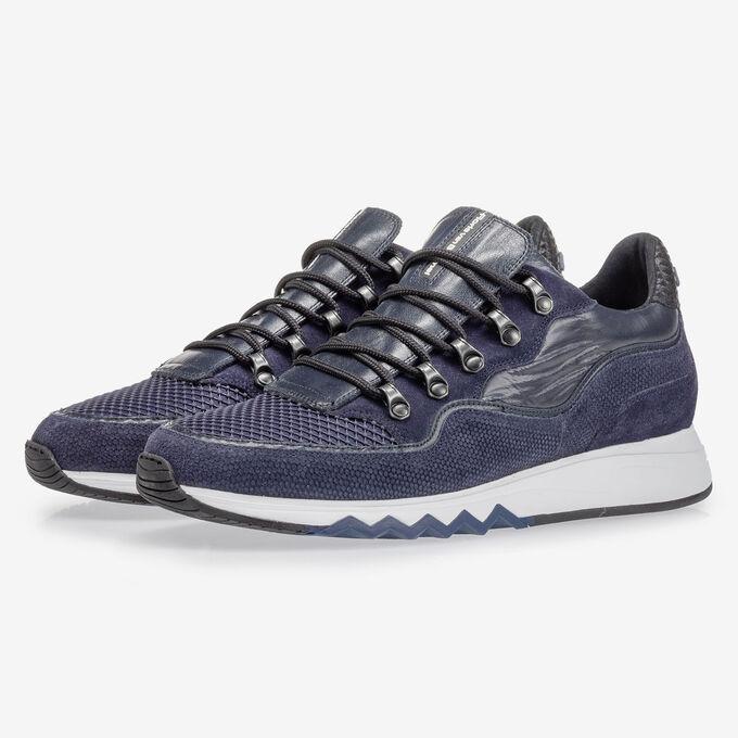 Sneaker with print dark blue