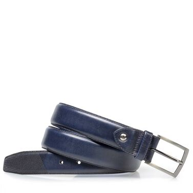 Leather belt with laser print