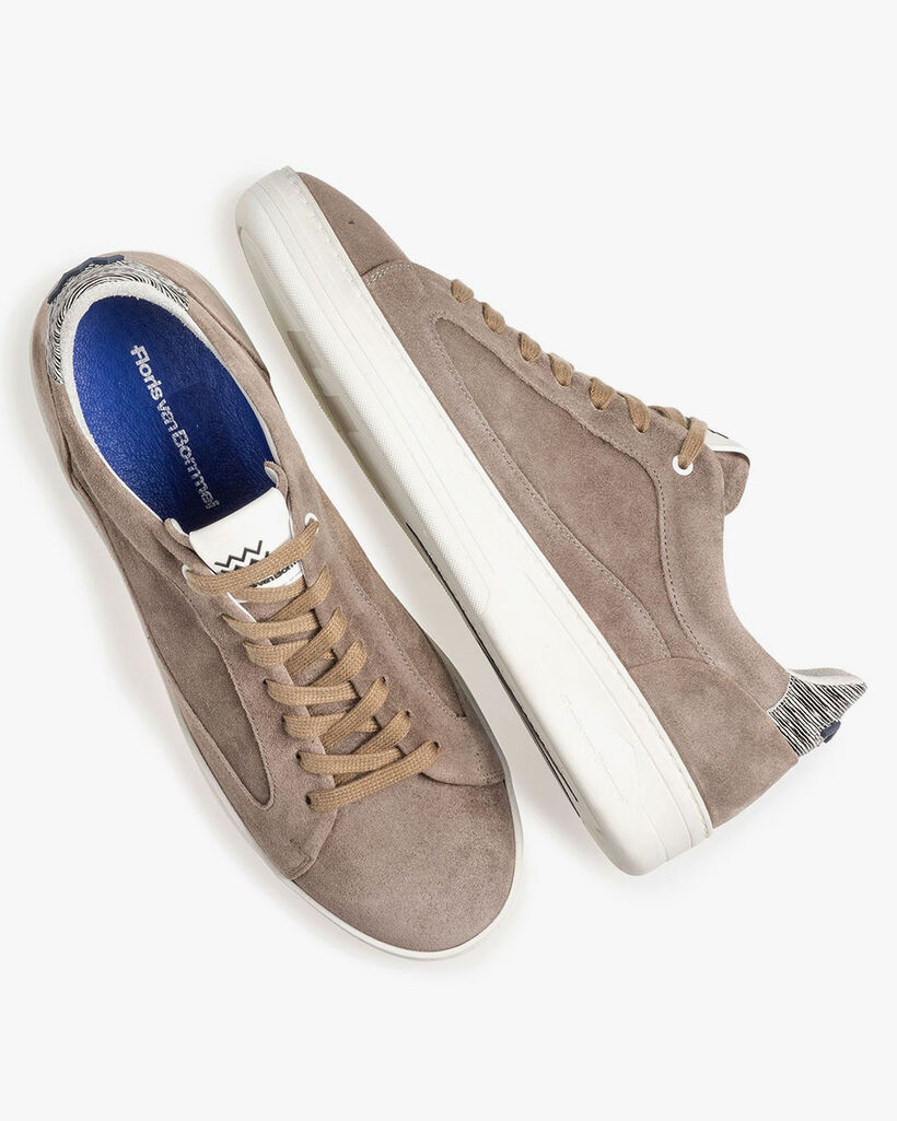 Suède sneaker taupe