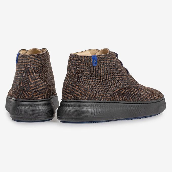 Boot zig-zag print brown