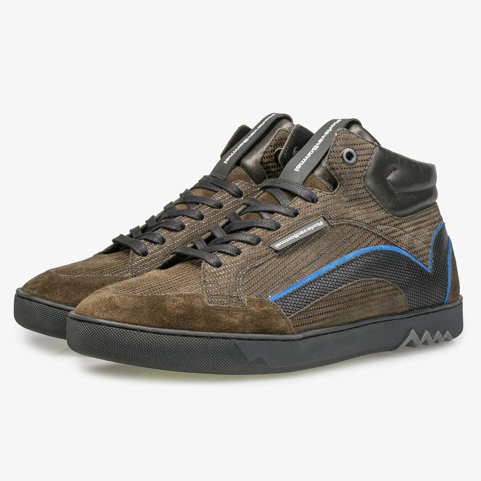 Halfhoge sneaker kobaltblauw