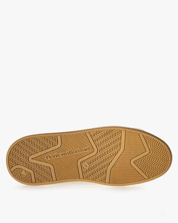 Sneaker geprint suède beige