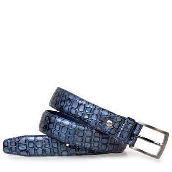 Riem metallic blauw