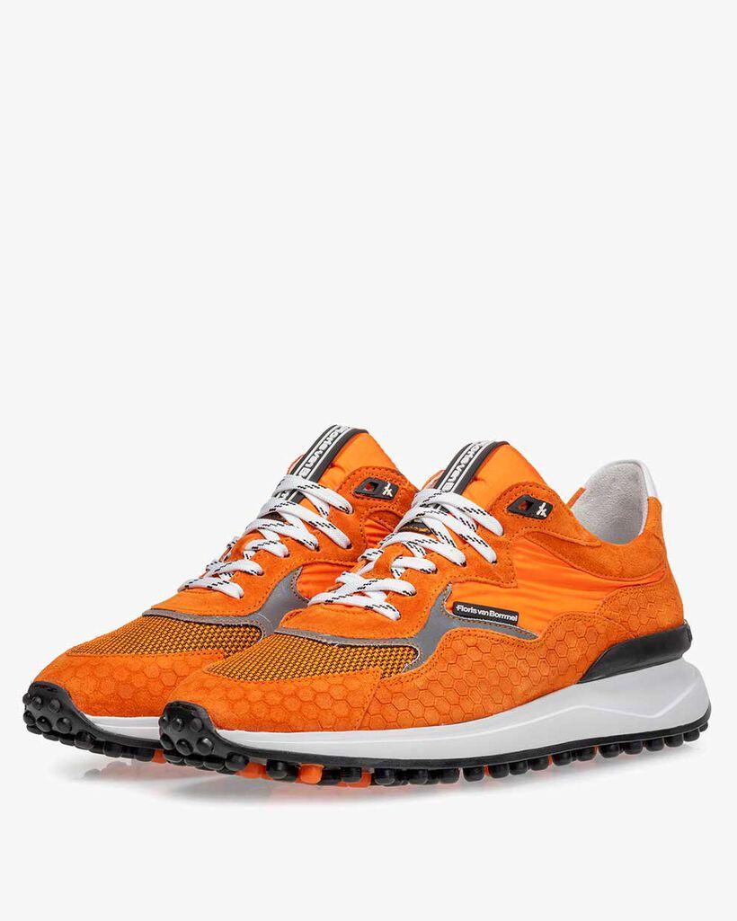 Noppi EK sneaker suède oranje