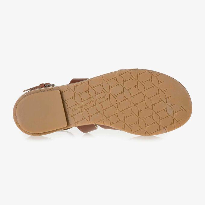 Leren sandaal cognac